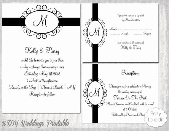 Free Monogram Template for Word Fresh Printable Wedding Invitation Set Hearts Monogram