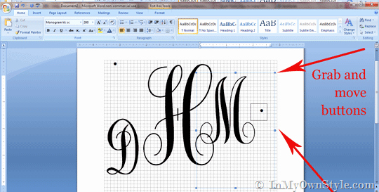 Free Monogram Template for Word Lovely How to Create A Monogram Using Microsoft Word