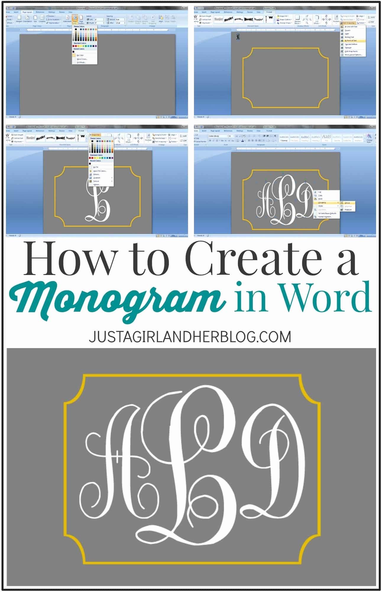 Free Monogram Template for Word Luxury Make Your Initials Logo Template Bing Images