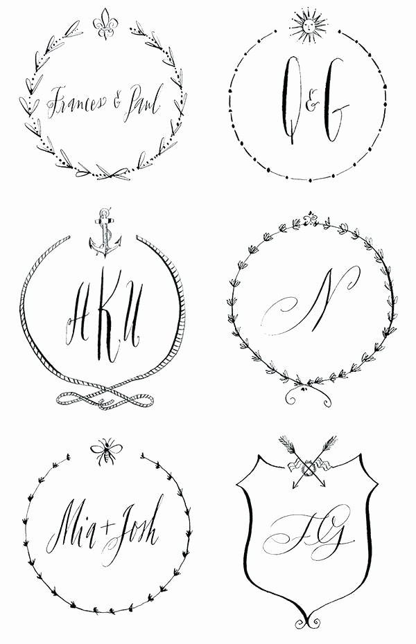Free Monogram Template for Word Luxury Port Word Maker Free Wedding Monogram Templates Line