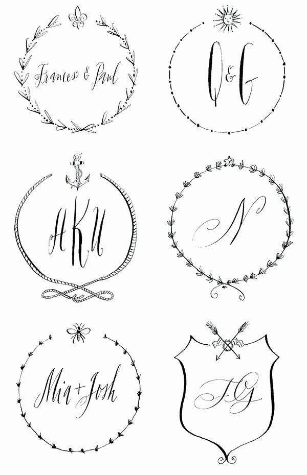 Free Monogram Template for Word Luxury Port Word Maker Free Wedding Monogram Templates Line