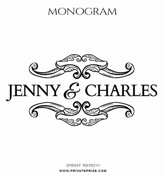 Free Monogram Template for Word Luxury Wedding Word Art