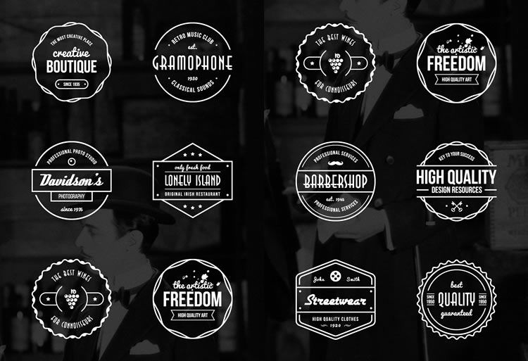 Free Monogram Template for Word Unique 15 Free Vintage Logo & Badge Template Collections