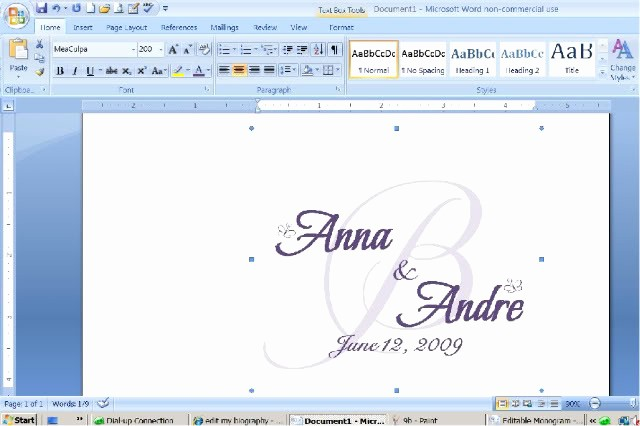 Free Monogram Template for Word Unique Free Wedding Monogram Templates for Microsoft Word