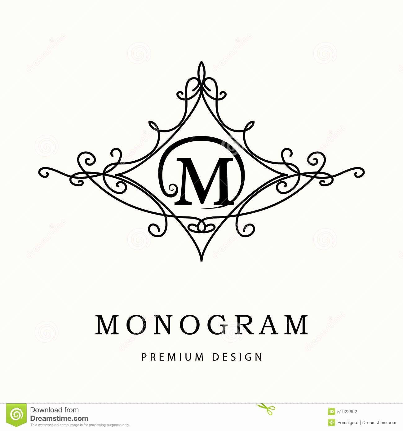 Free Monogram Template for Word Unique Monogram Design Elements Graceful Template Elegant Line