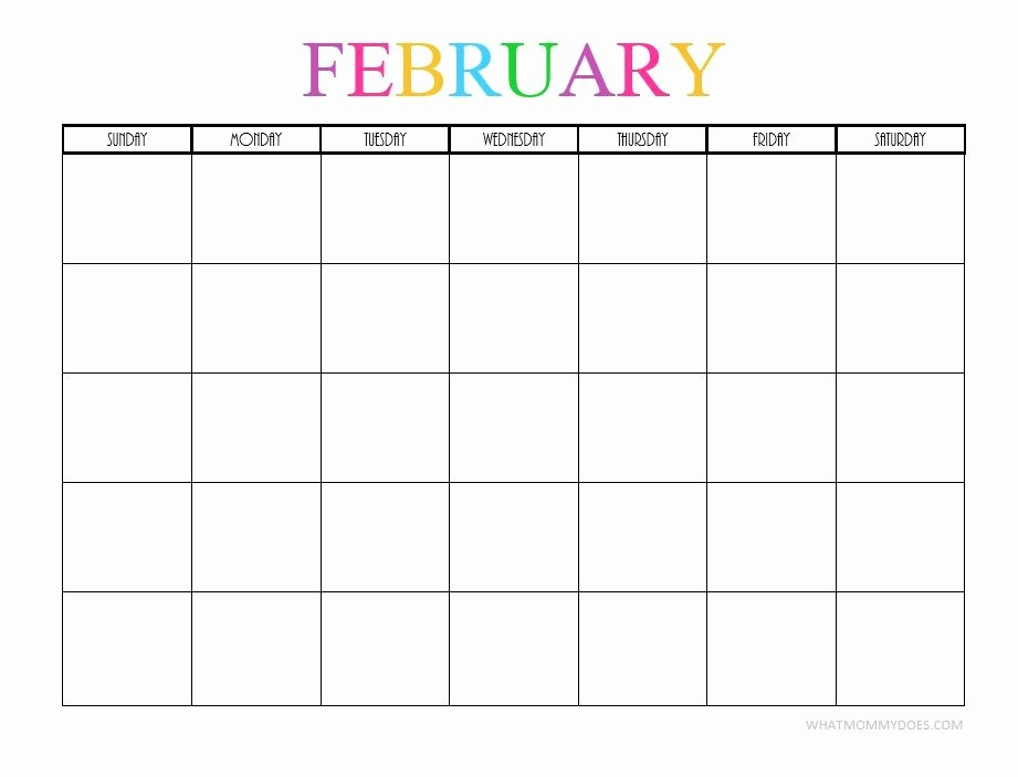 Free Monthly Calendar Template 2019 Elegant Free Printable Blank Monthly Calendars 2018 2019 2020