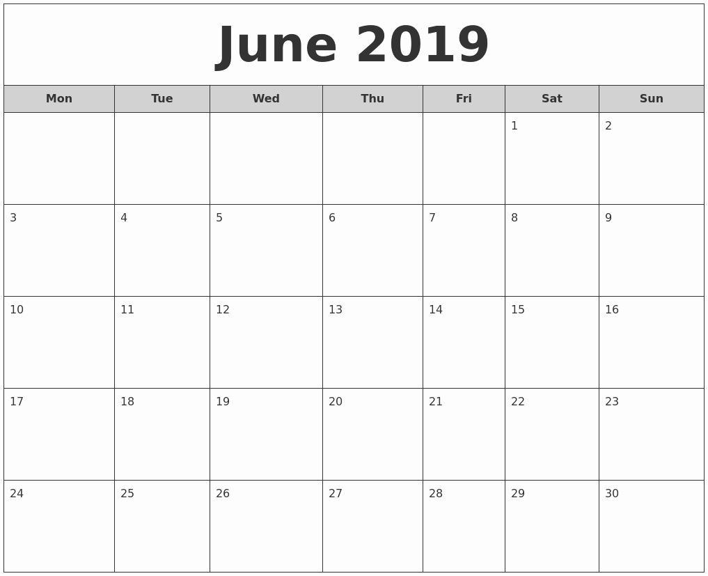 Free Monthly Calendar Template 2019 Fresh June 2019 Calendar Free Download Freemium Templates