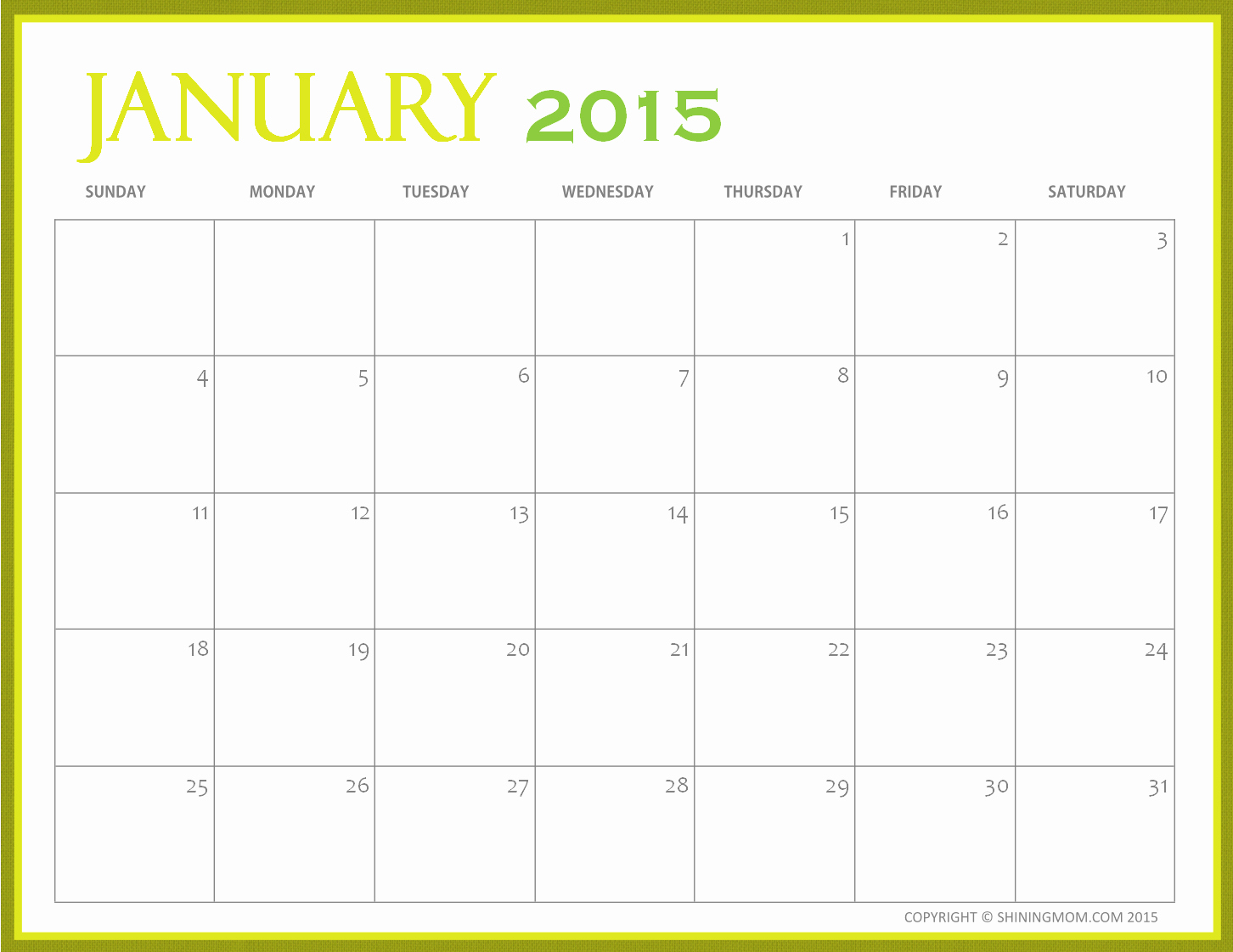 Free Monthly Calendar Templates 2015 Awesome Free Printable 2015 Monthly Calendar – 2017 Printable Calendar
