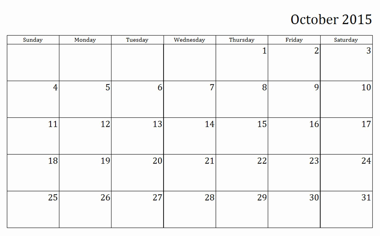 Free Monthly Calendar Templates 2015 Awesome Free Printable Calendar 2015 Monthly – 2017 Printable Calendar