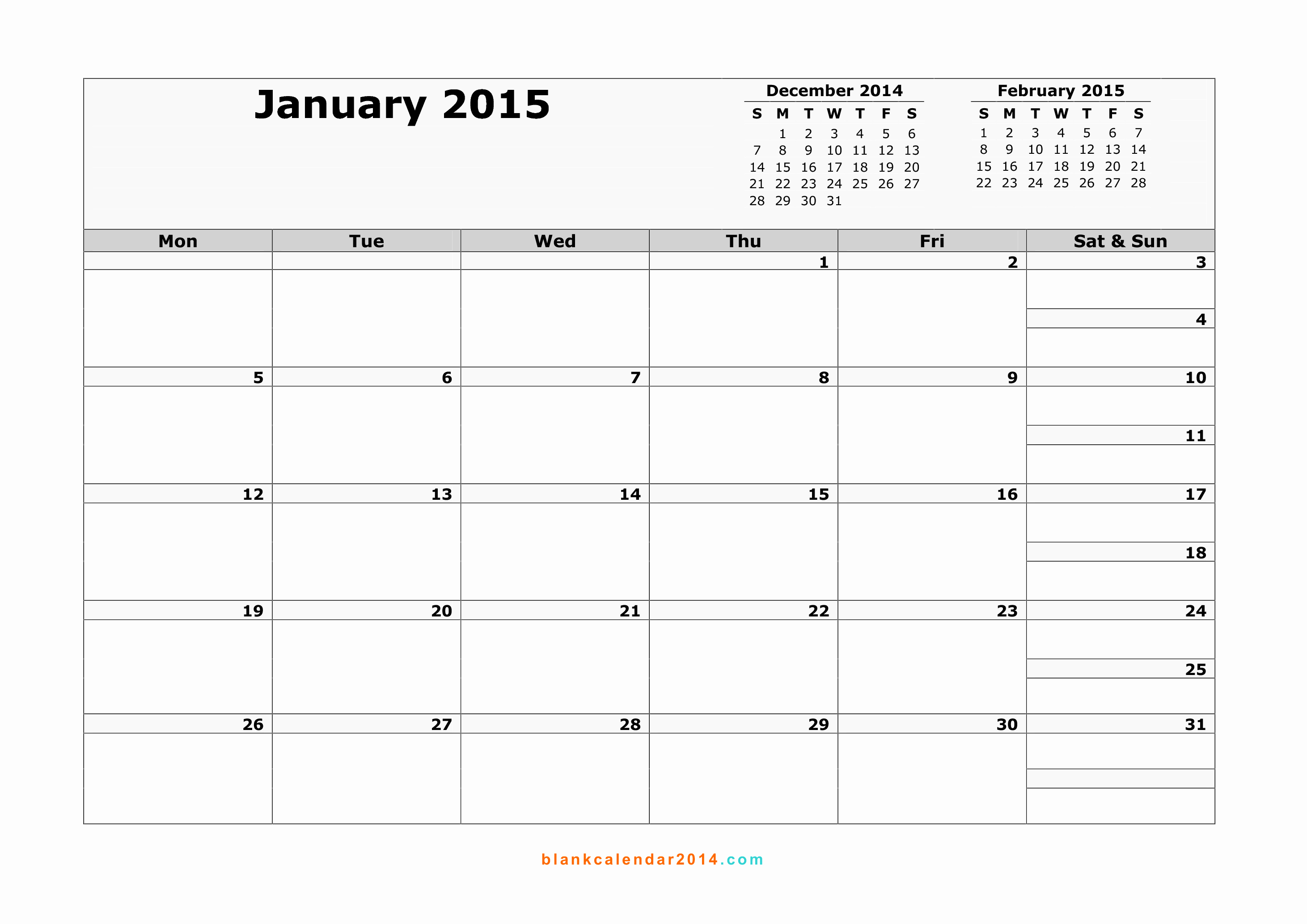 Free Monthly Calendar Templates 2015 Awesome Monthly Printable Calendar 2015 – 2017 Printable Calendar