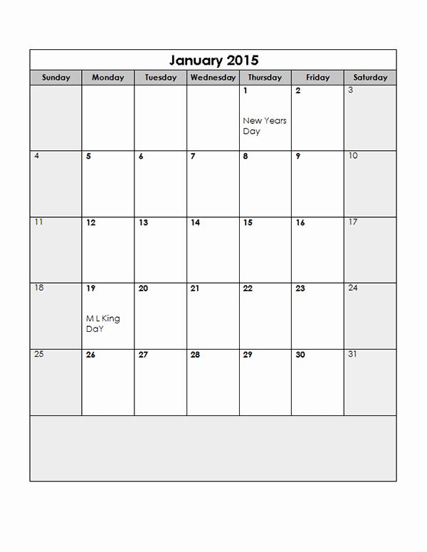 Free Monthly Calendar Templates 2015 Beautiful 2015 Monthly Calendar Template 13 Free Printable Templates