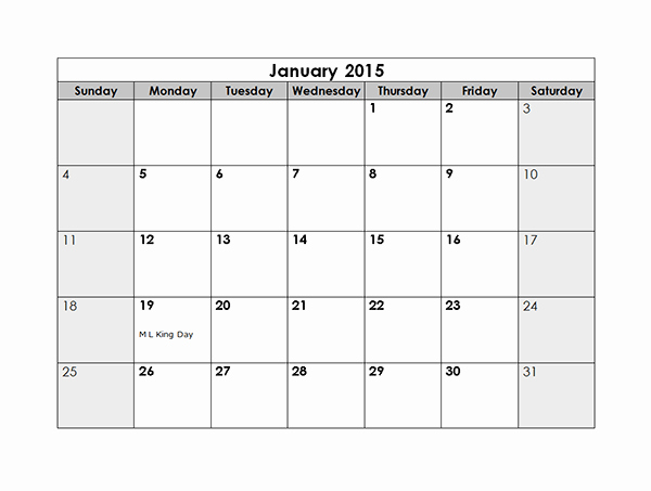 Free Monthly Calendar Templates 2015 Best Of 2015 Monthly Calendar Free Printable Templates