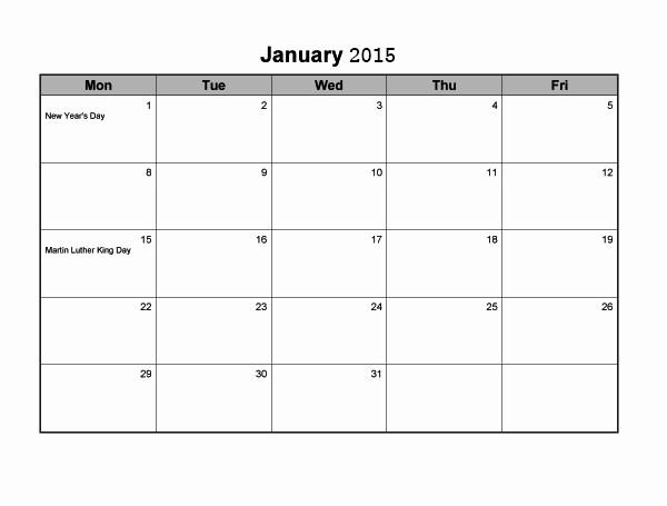 Free Monthly Calendar Templates 2015 Elegant 35 Best 2015 Monthly Calendar Templates for Download
