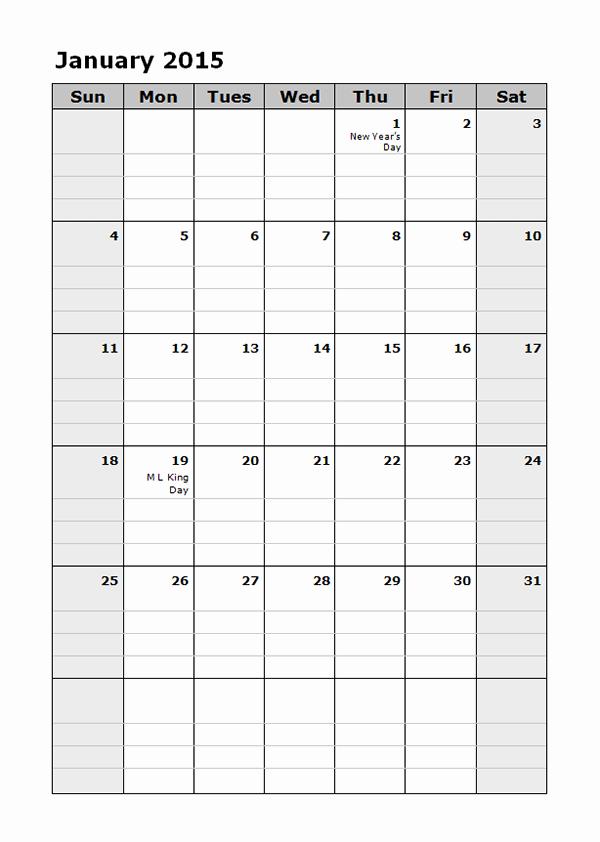 Free Monthly Calendar Templates 2015 Elegant Calendar Labs 2015 Templates