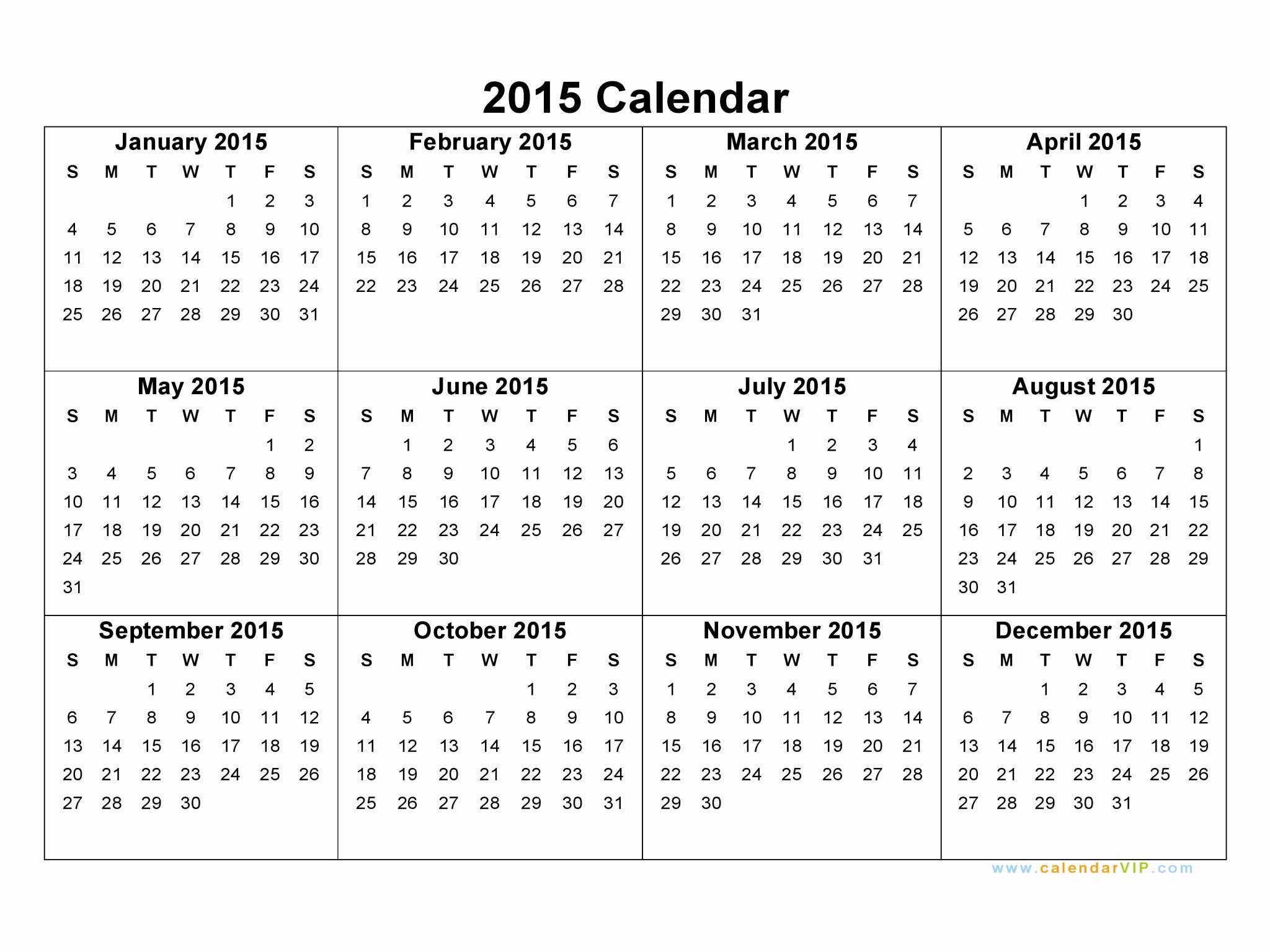 Free Monthly Calendar Templates 2015 Fresh 2015 Calendar Blank Printable Calendar Template In Pdf