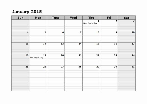 Free Monthly Calendar Templates 2015 Inspirational 2015 Monthly Calendar Template 08 Free Printable Templates