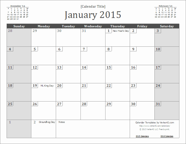 Free Monthly Calendar Templates 2015 Luxury 2015 Calendar Templates and
