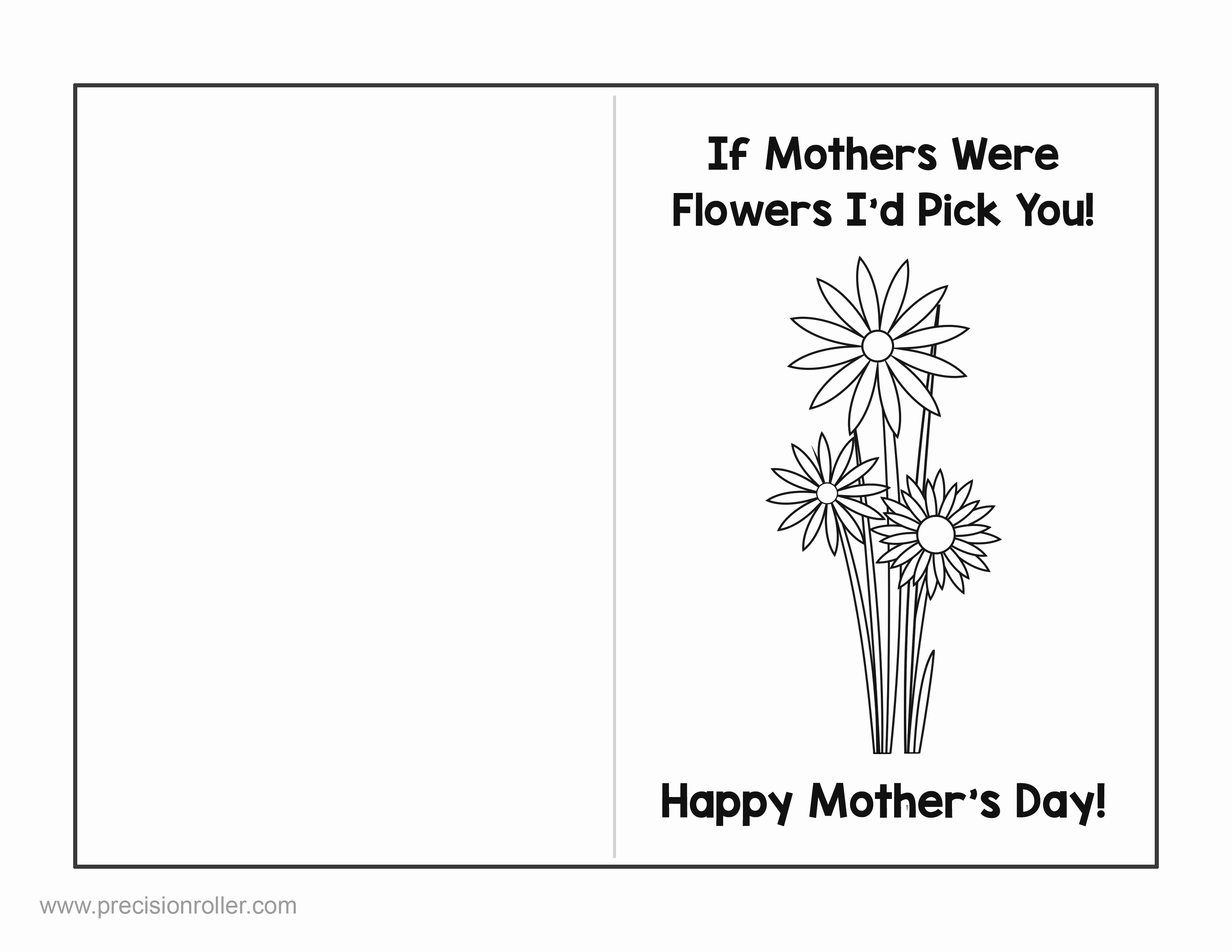 Free Mother's Day Card Templates Awesome Mother S Day Card and Questionnaire Precision Printables