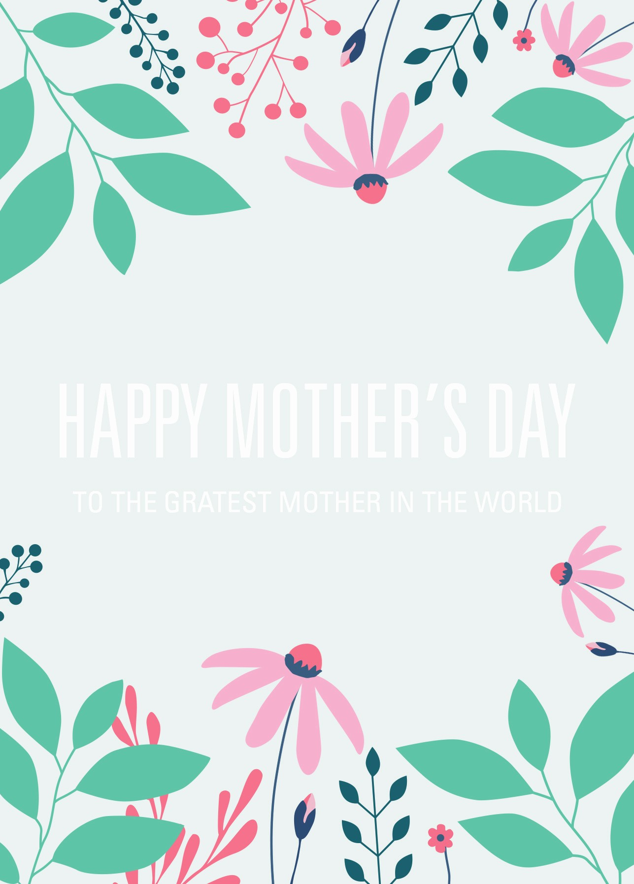 Free Mother's Day Card Templates Best Of Free Printable Card Template for Mother's Day