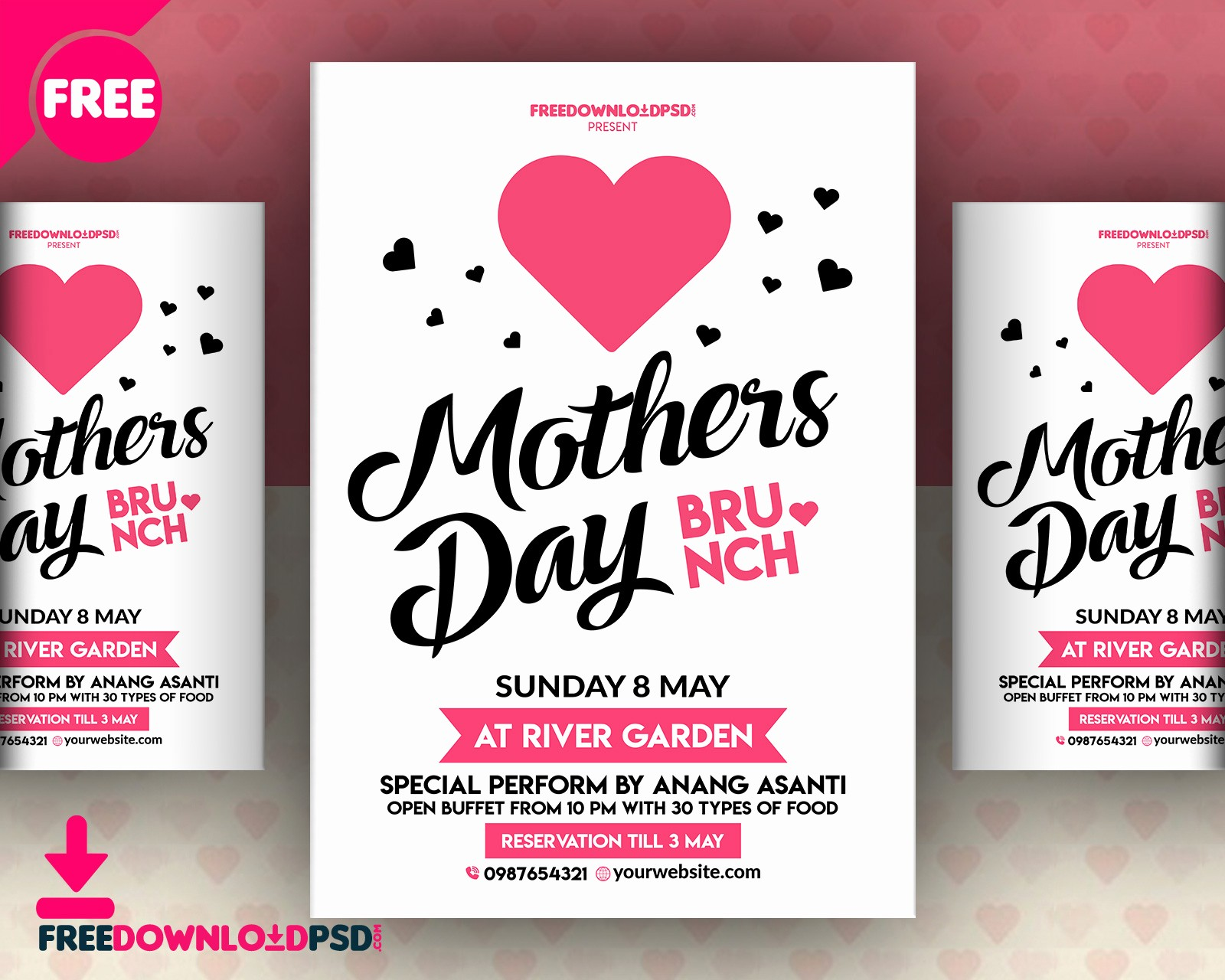 Free Mother's Day Card Templates Best Of Mothers Day Invitation Flyer Free Psd Download Download Psd