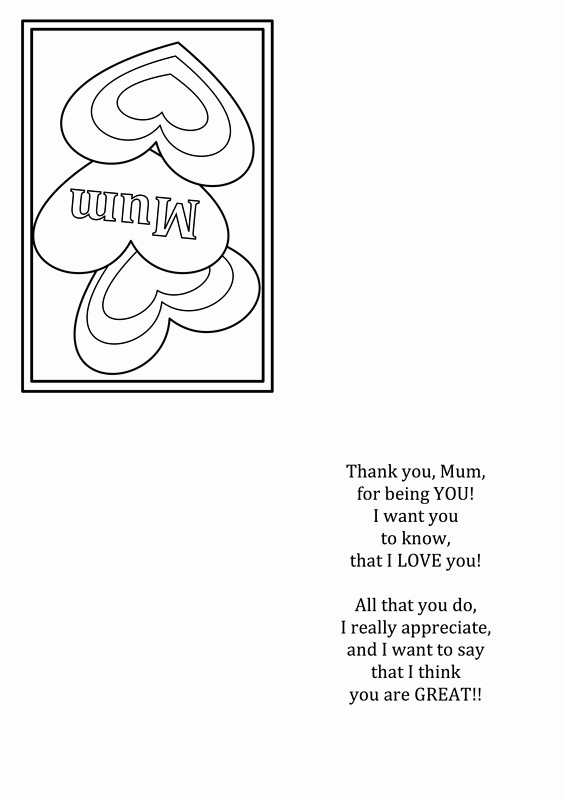 Free Mother's Day Card Templates Fresh Free Mother S Day Card Printable Templates