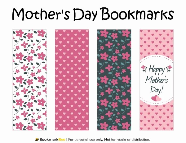 Free Mother's Day Card Templates Fresh Free Printable Mother S Day Bookmarks Download the Pdf