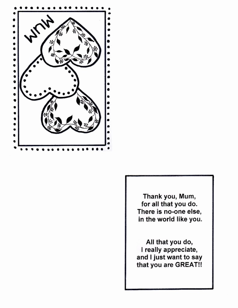 Free Mother's Day Card Templates Inspirational Free Mother's Day Heart Cards – Early Play Templates