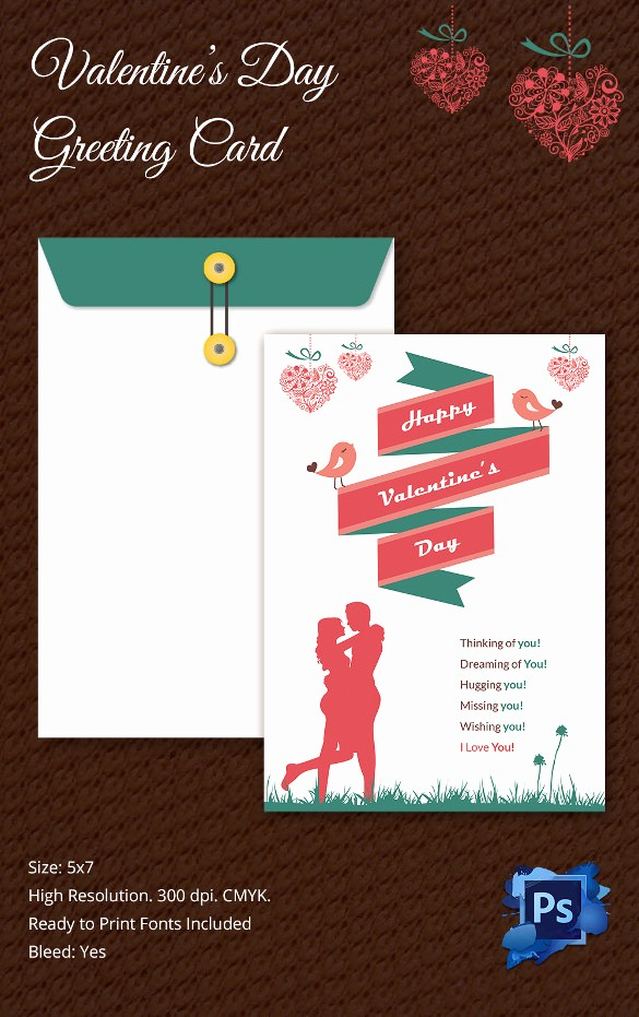 Free Mother's Day Card Templates Luxury 60 Happy Valentines Day Cards Psd Designs