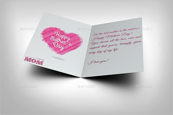 Free Mother's Day Card Templates New 11 Mothers Day Card Templates Psd Eps