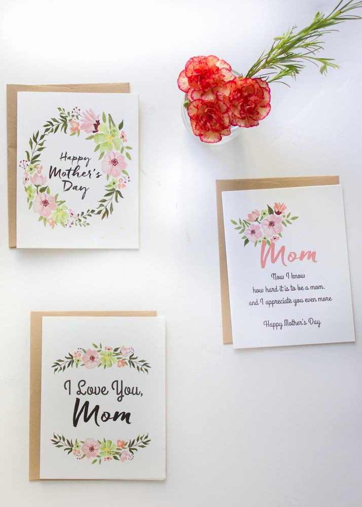 Free Mother's Day Card Templates New 20 Cute Free Printable Mothers Day Cards Mom Cards You