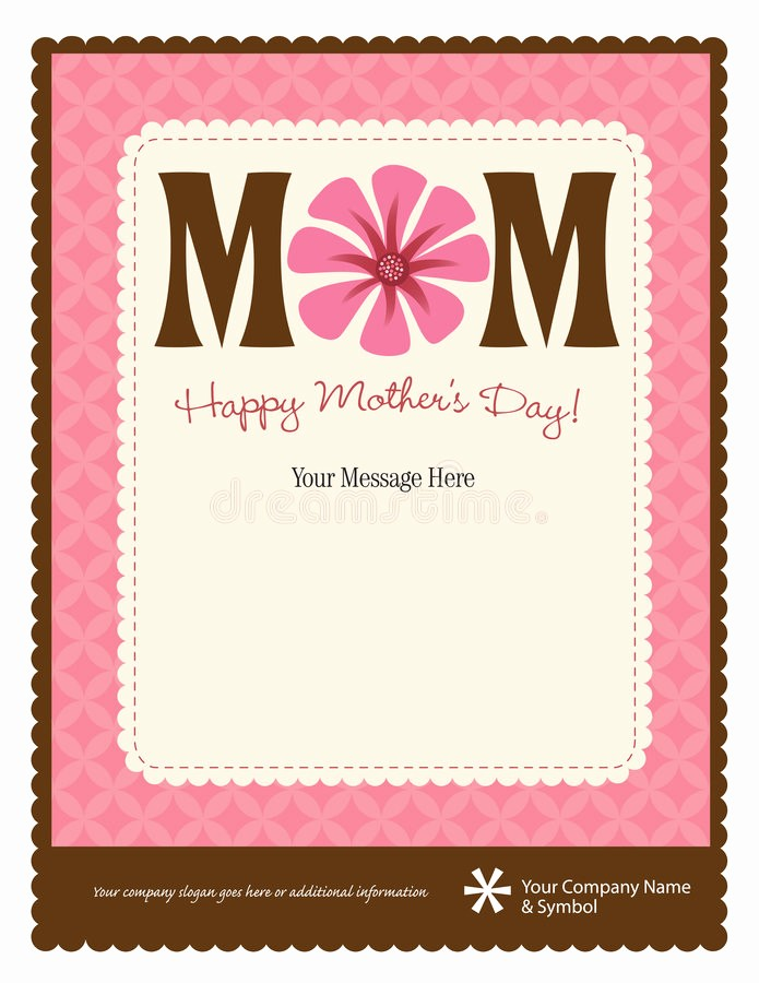 Free Mother's Day Card Templates New Mother S Day Flyer Poster Template Stock Vector