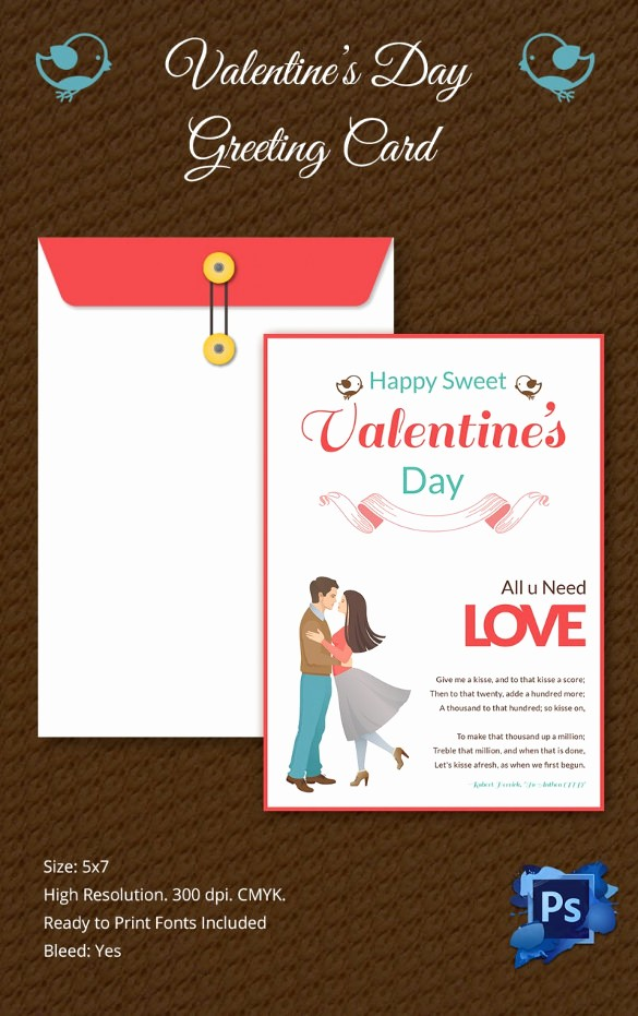 Free Mother's Day Card Templates Unique 60 Happy Valentines Day Cards Psd Designs