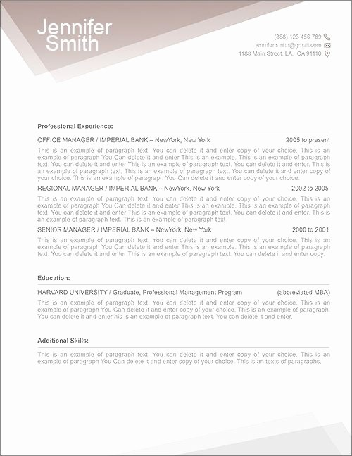 Free Ms Word Letter Templates Beautiful Free Resume Template Premium Line Of Resume