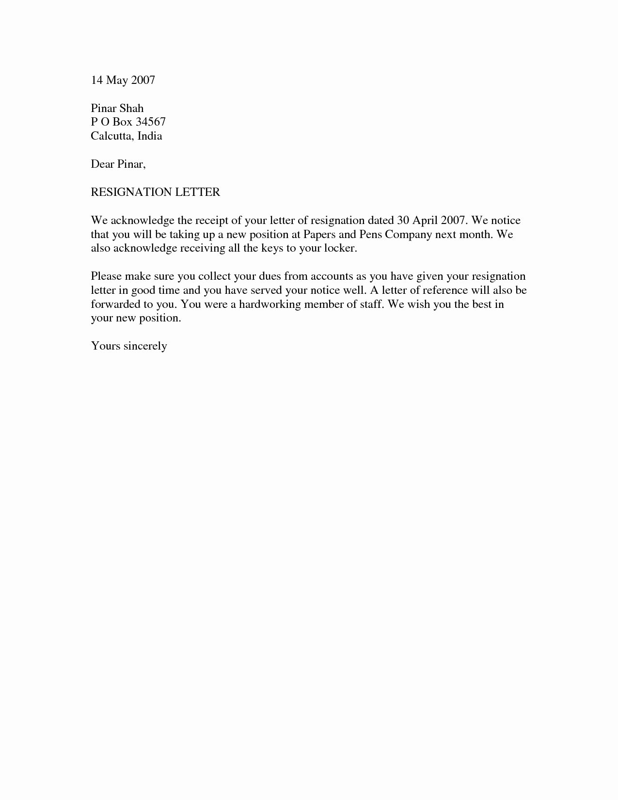 Free Ms Word Letter Templates Best Of Resignation Letter Template