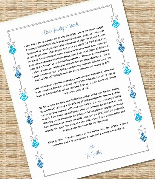 Free Ms Word Letter Templates Inspirational Microsoft Word Christmas Letter Template with ornaments