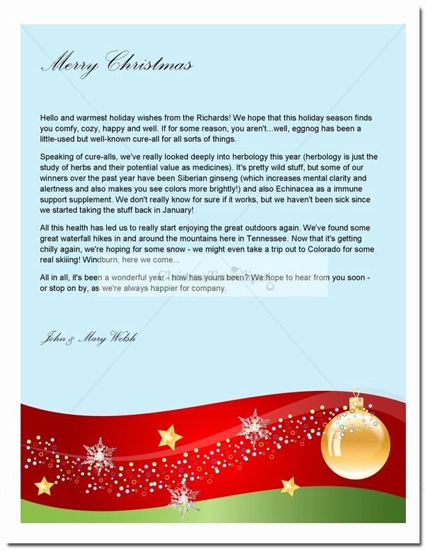 Free Ms Word Letter Templates Lovely Christmas Letter Template T