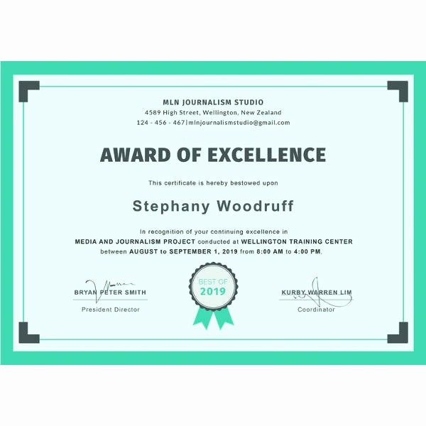 Free Online Certificate Maker software Awesome Achievement Certificate Templates
