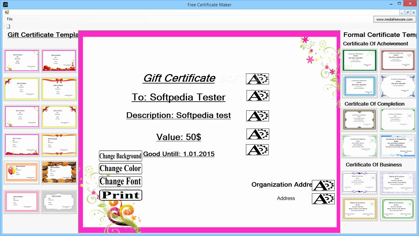 Free Online Certificate Maker software Elegant Freeware Certificate Maker software Tpals