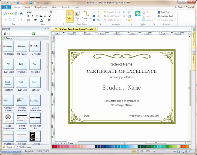 Free Online Certificate Maker software Fresh Certificate Design software