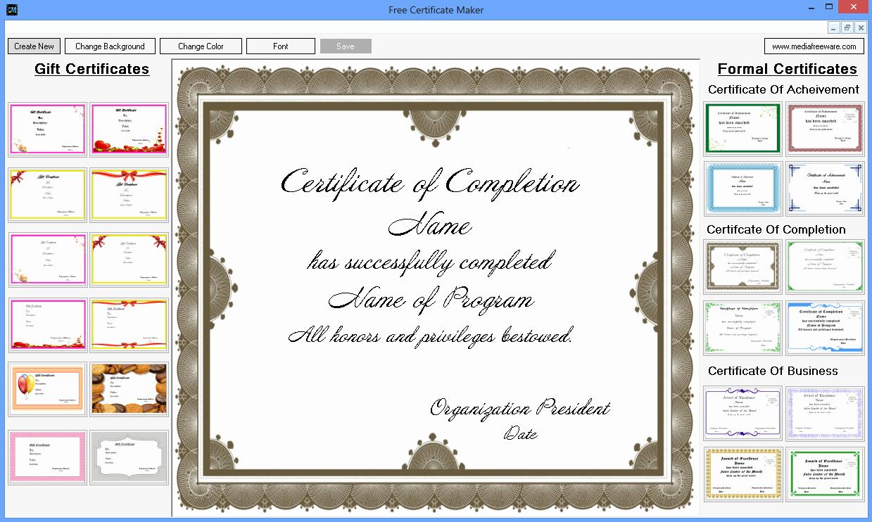 Free Online Certificate Maker software Unique Free Certificate Maker Free and software