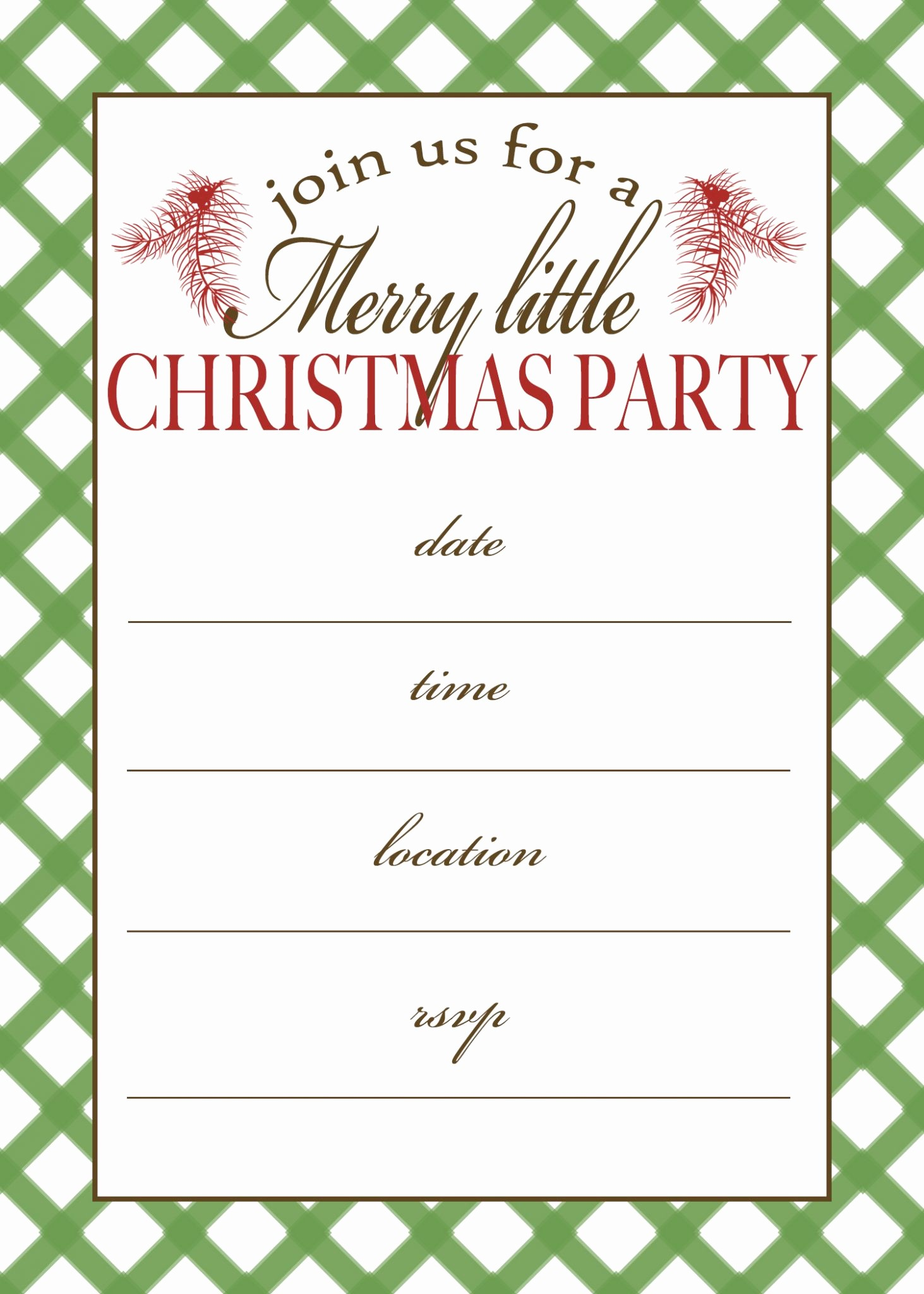 Free Online Christmas Party Invitations Beautiful Free Printable Christmas Party Invitation