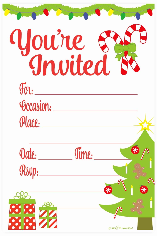 Free Online Christmas Party Invitations Elegant Amazon Snowflake Classic Christmas Invitations Fill