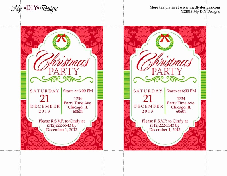 Free Online Christmas Party Invitations Elegant Christmas Invitation Template