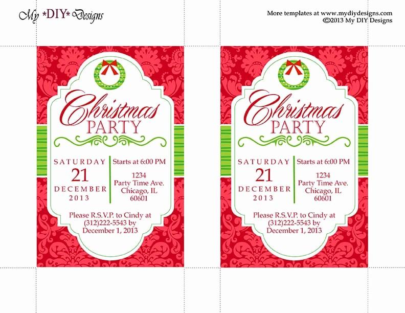 Free Online Christmas Party Invitations Elegant Christmas Invitation Template
