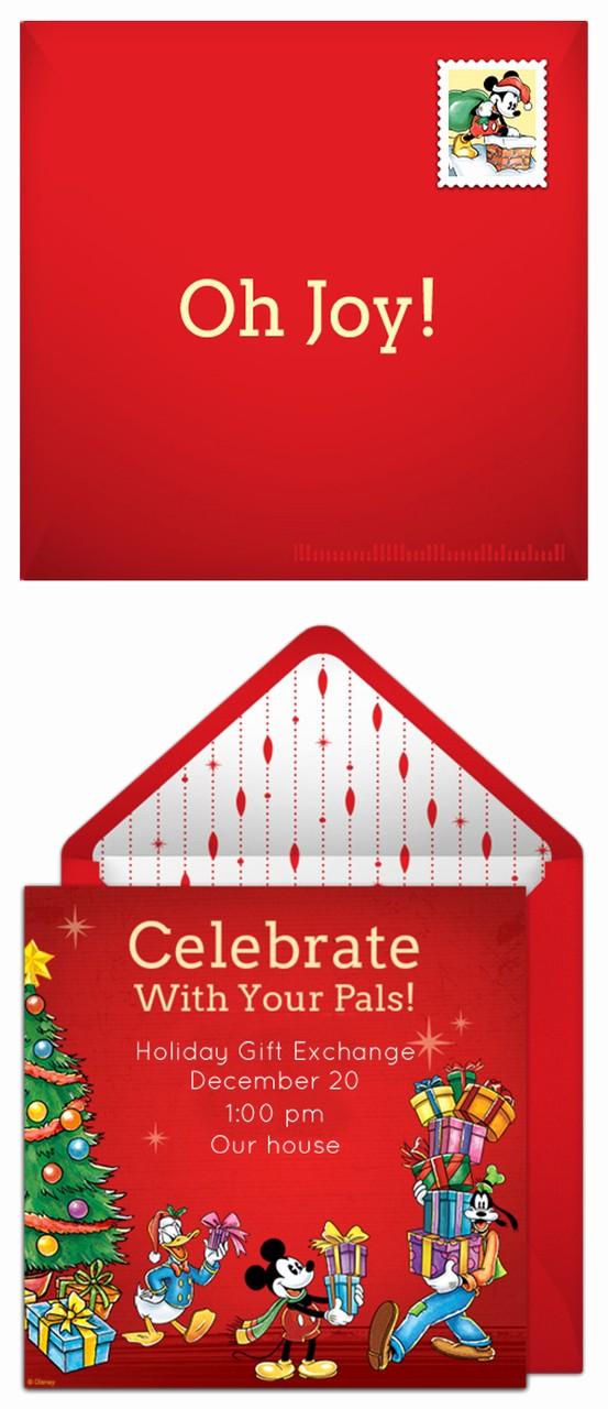Free Online Christmas Party Invitations Elegant Plan A Heartwarming Disney Christmas Party