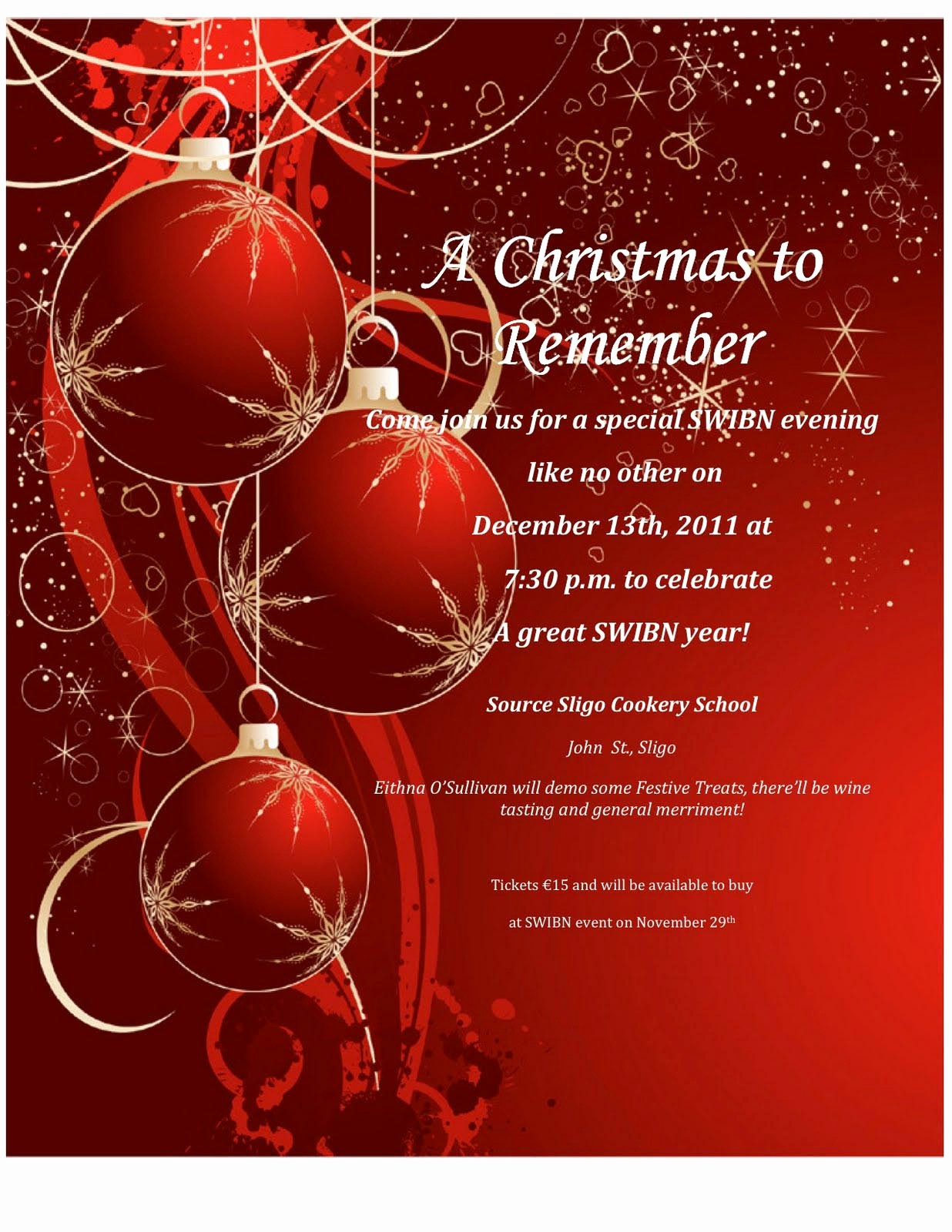 Free Online Christmas Party Invitations Elegant Word Christmas Party Invitation Template