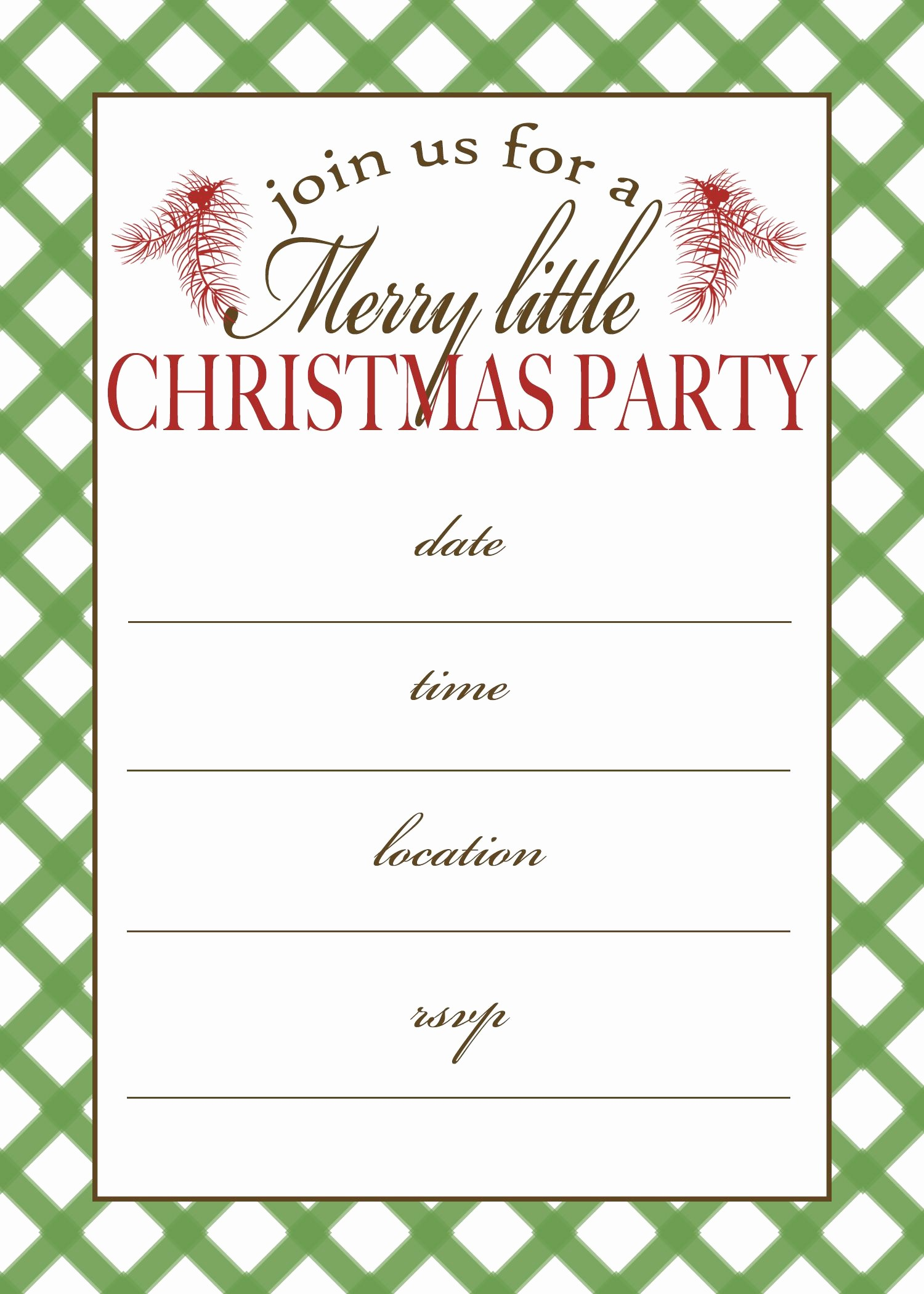 Free Online Christmas Party Invitations Inspirational Free Printable Christmas Party Invitation