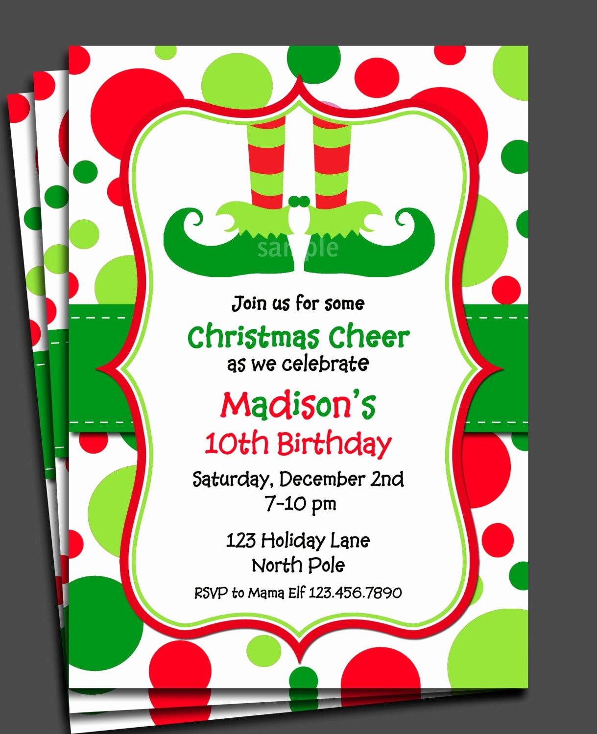 Free Online Christmas Party Invitations Luxury Christmas Elf Invitation Printable or Printed with Free