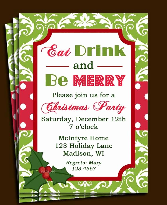 Free Online Christmas Party Invitations Luxury Christmas Party Invitation Printable or Printed with Free
