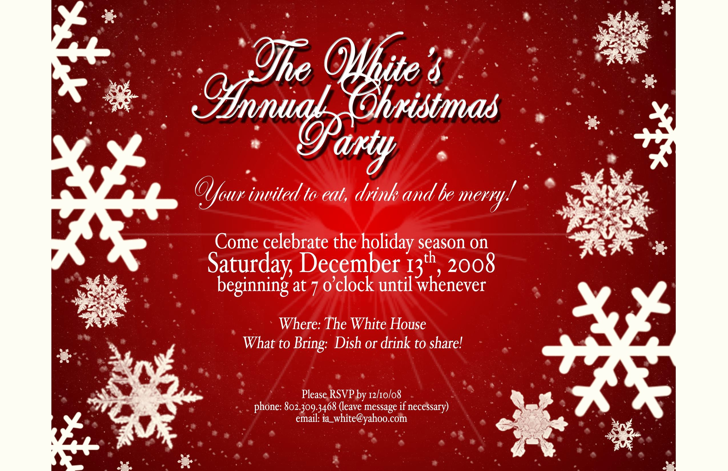 Free Online Christmas Party Invitations Luxury Christmas Party Invites